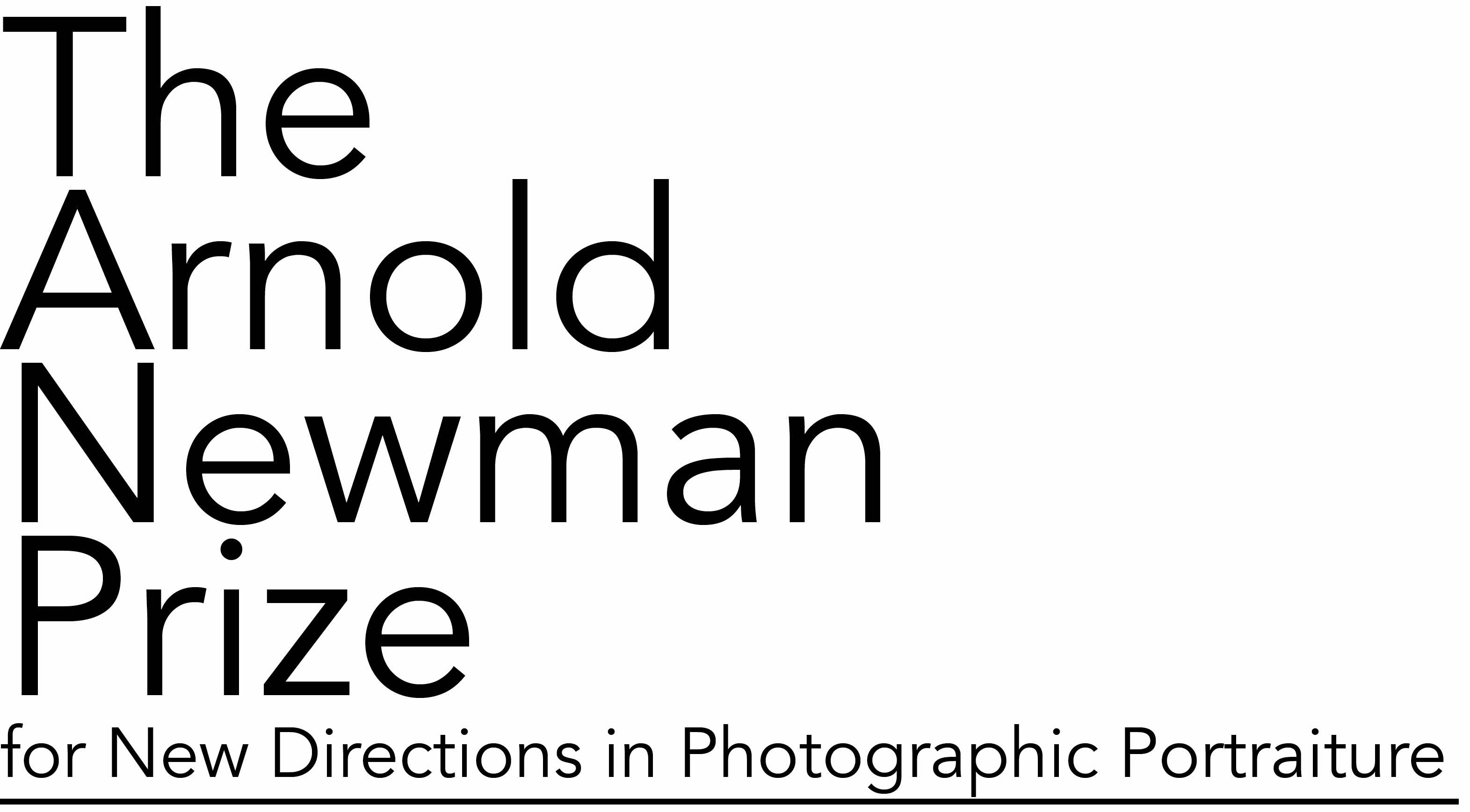 The Arnold Newman Prize for New Directions in Photographic Portraiture - logo