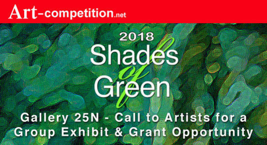 Art Call:  Shades of Green 2018 an exhibiting and art grant opportunity at Art-competition and Gallery 25N - logo