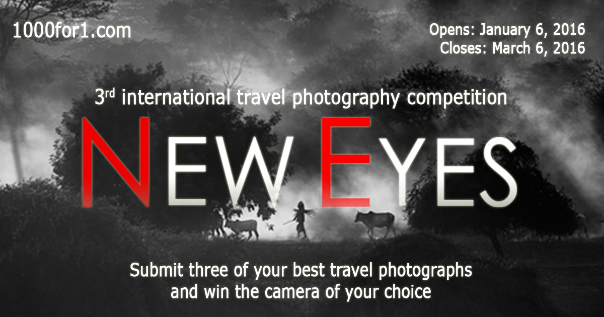 New Eyes: 3rd international travel photography competition - logo