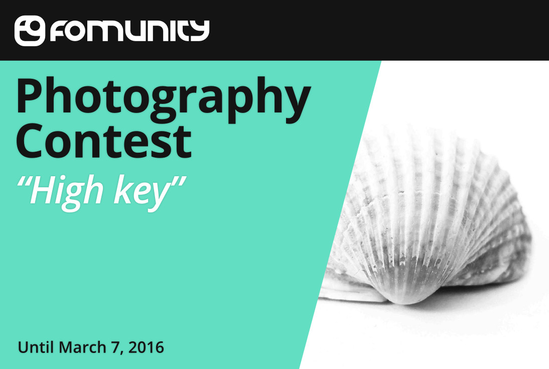 """High key"" Photography Contest by Fomunity - logo"