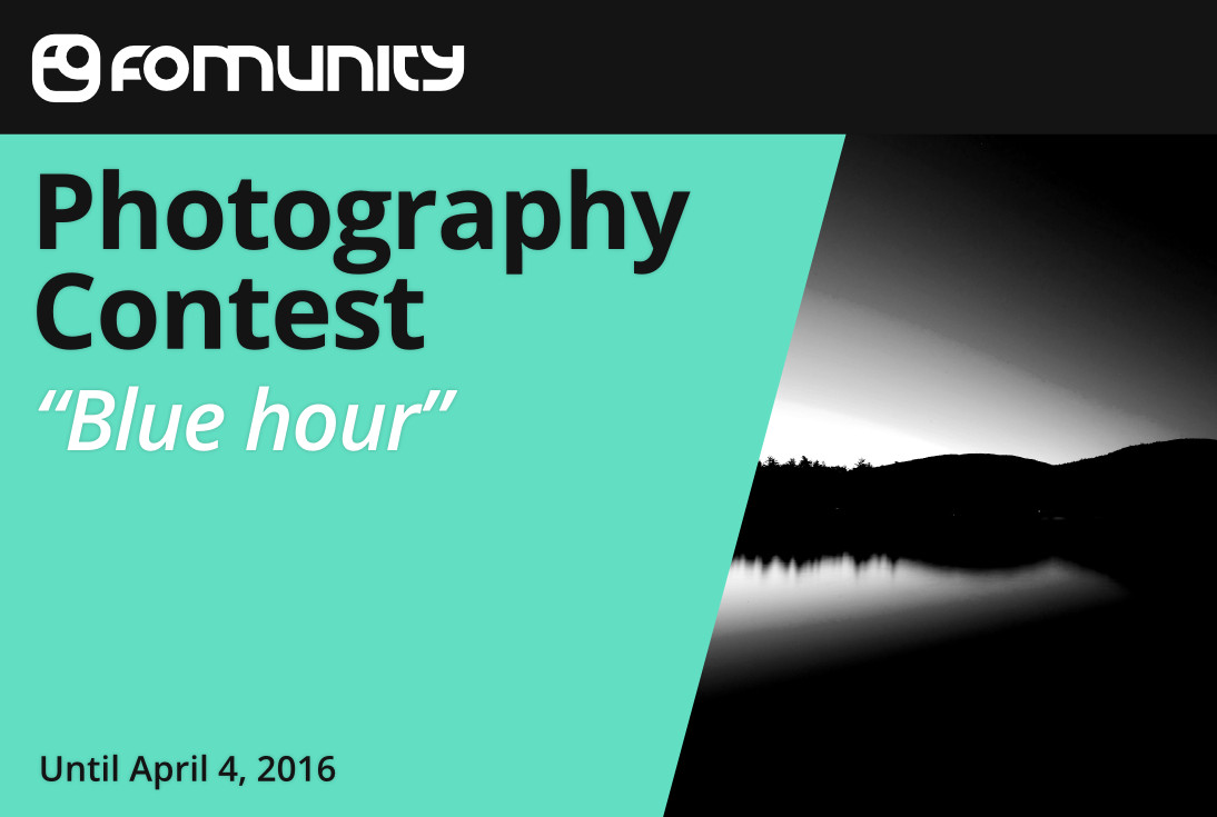 """Blue hour"" photography contest by Fomunity - logo"
