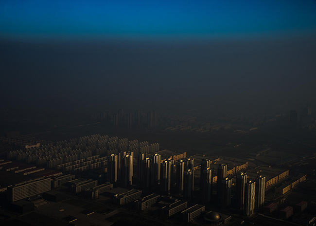 Haze in China - Zhang Lei A city in northern China shrouded in haze, Tianjin, China.
