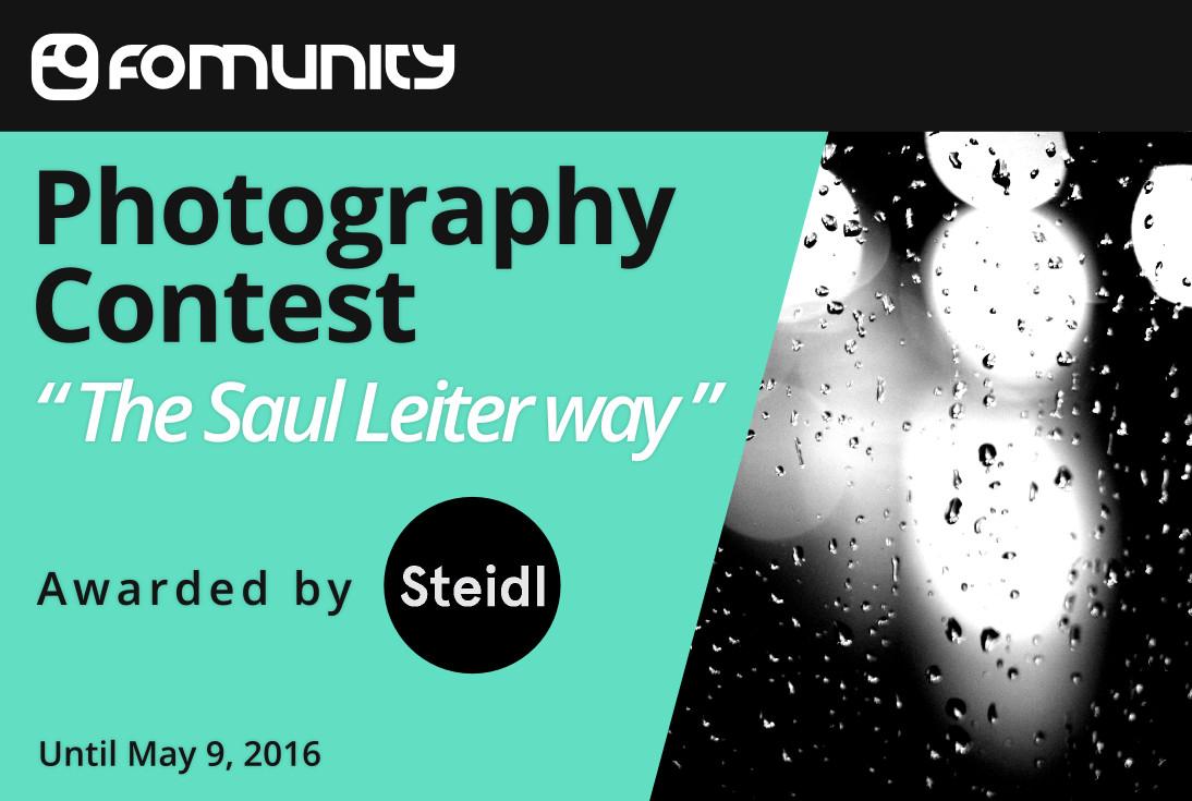 """""""The Saul Leiter Way"""" at Fomunity - logo"""