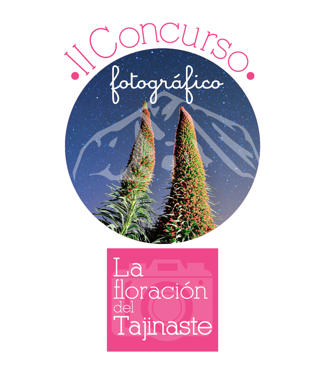 "2ND INTERNATIONAL PHOTOGRAPHY CONTEST ""The flowering of the Tajinaste"" - logo"