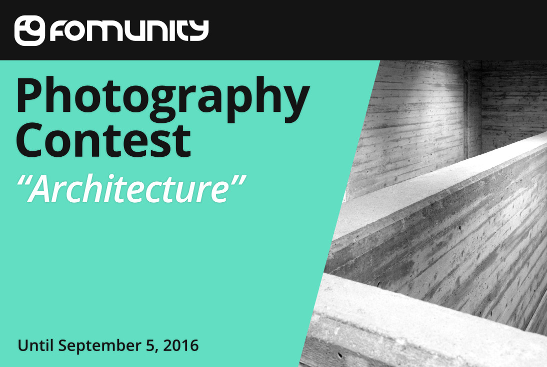 """""""Architecture"""" photography contest by Fomunity - logo"""