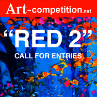 """RED 2"" Call for Entries for an online group exhibition. - logo"