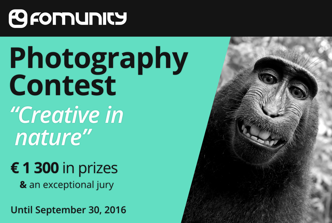 """""""Creative in nature"""" photography contest by Fomunity - logo"""