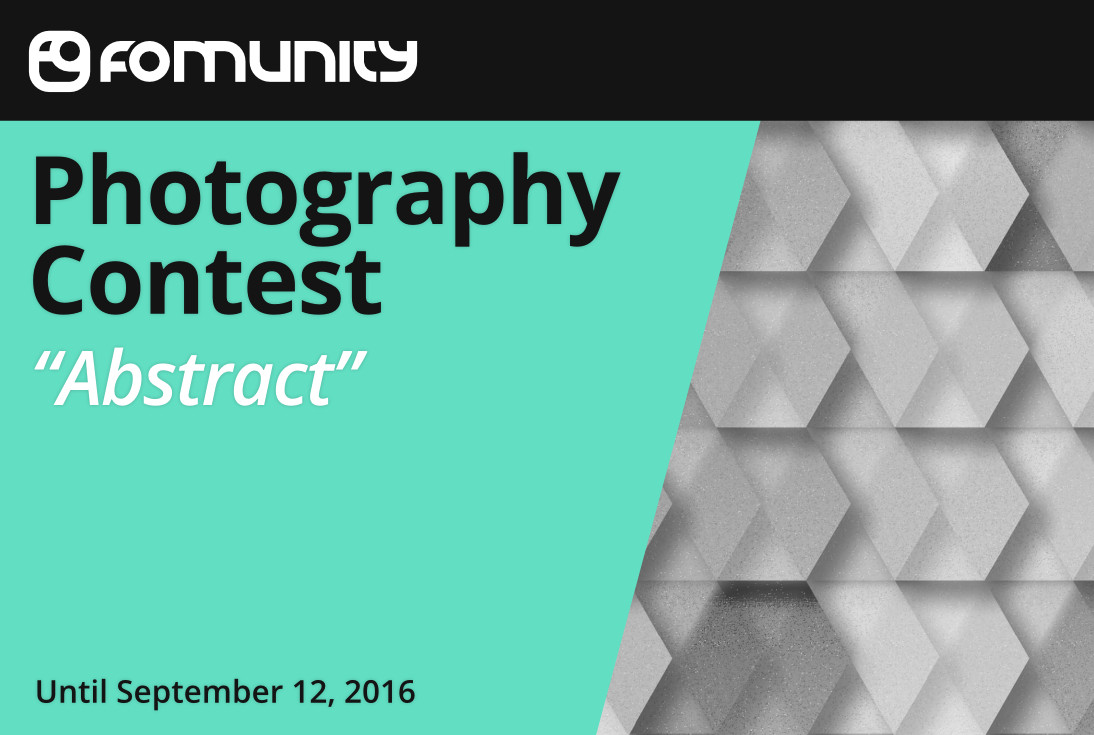 """Abstract"" photography contest by Fomunity - logo"