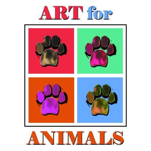 Art for Animals Juried Art Exhibition for Charity - logo