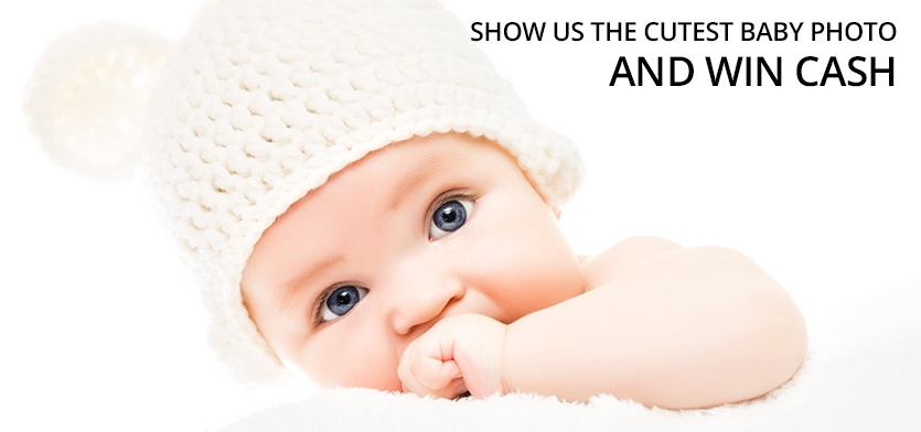 """Photography contest for """"The Cutest Baby Photo"""" - logo"""
