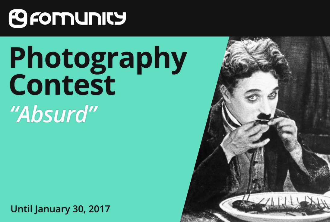 """""""Absurd"""" photography contest by Fomunity - logo"""