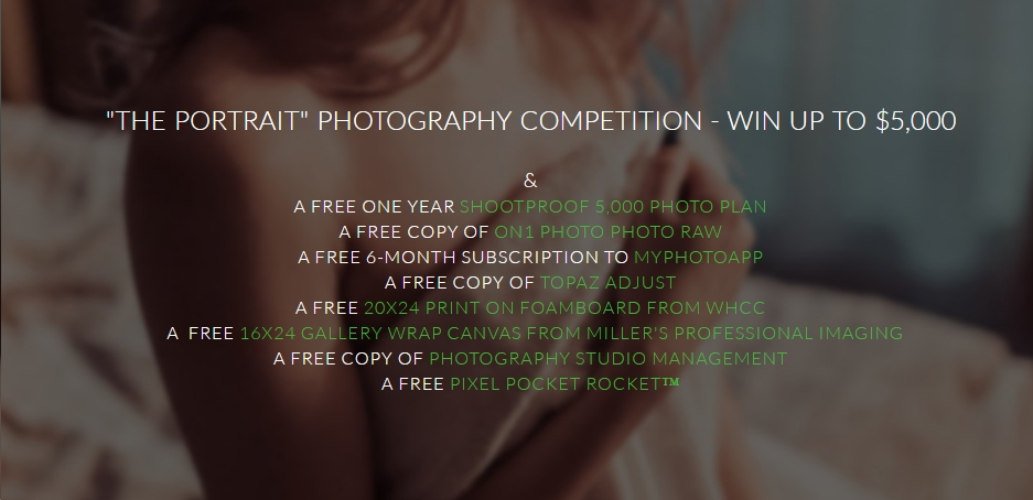 Win Up To $5,000 In Our Portrait Photography Competition! - logo
