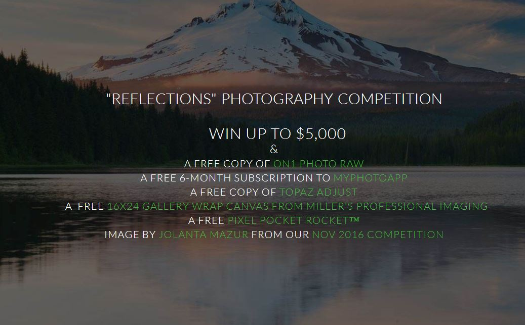 Reflections Photography Competition Win Up To $5,000! - logo