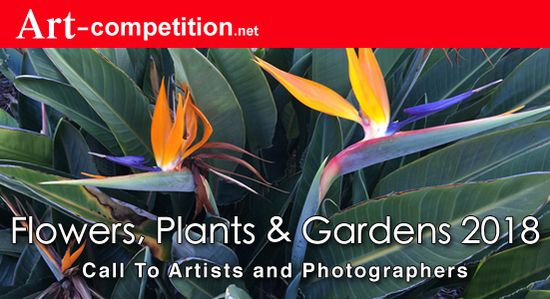 "Call for Entries ""Flowers, Plants & Gardens 2018"" Prizes $1,625.00 in Cash and $6,500.00 in Marketing Prizes - logo"