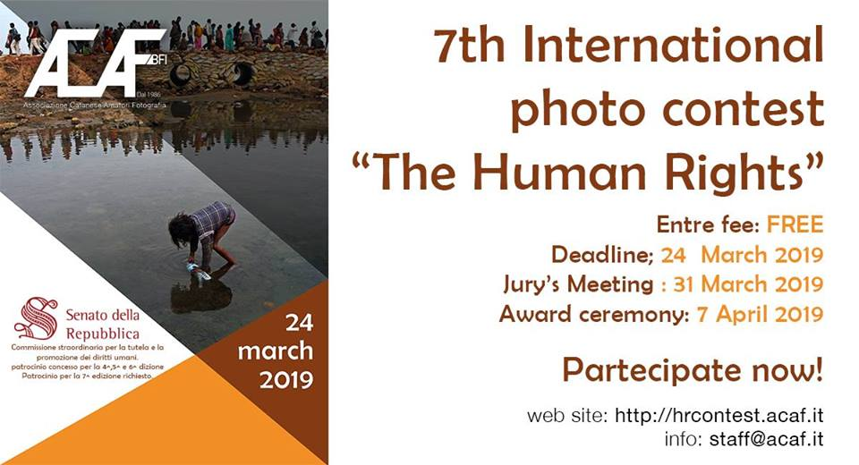 "7th International photo contest ""The Human Rights"" - logo"