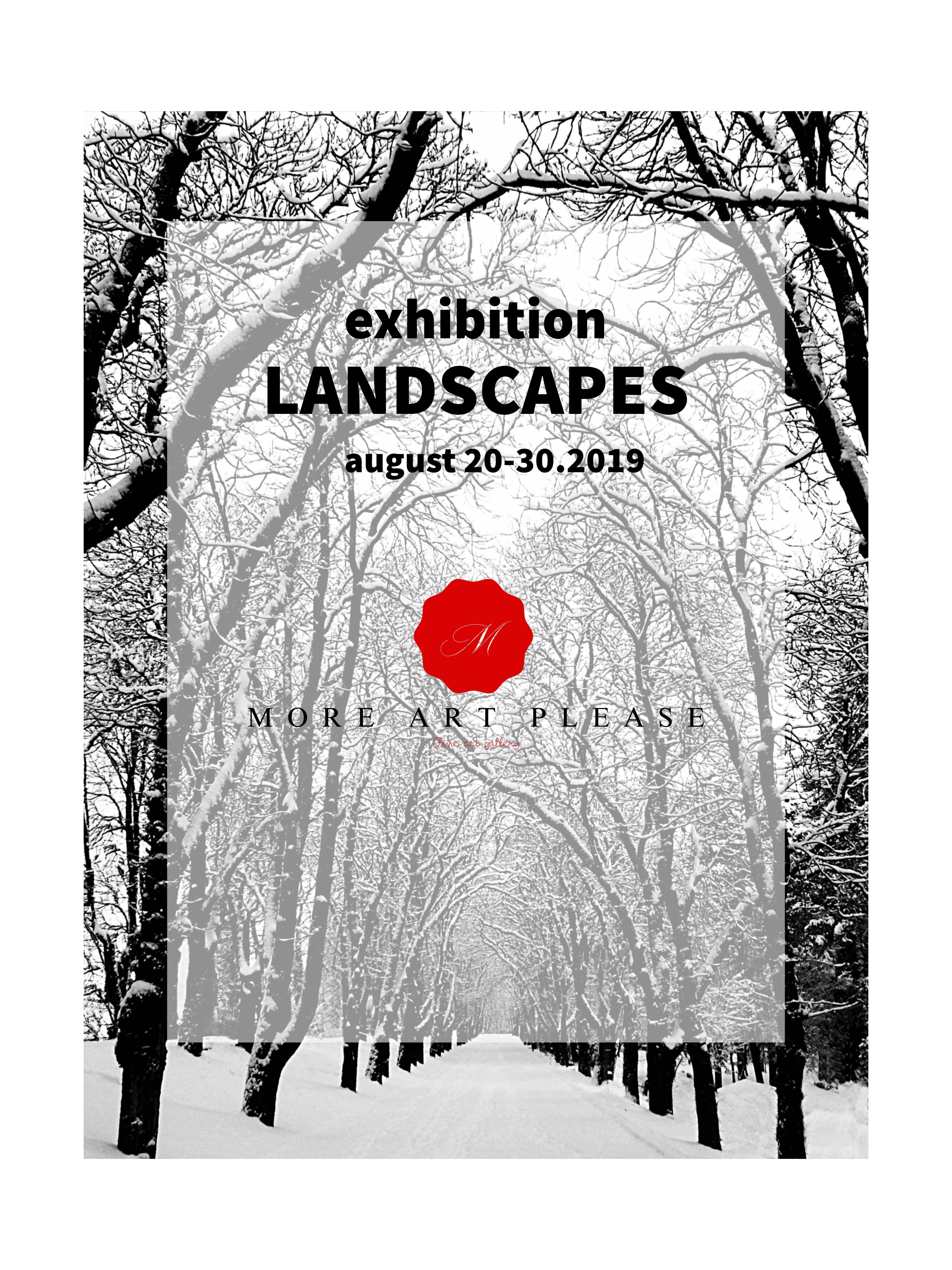 MORE ART PLEASE: Landscapes - logo