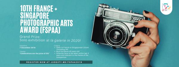 10th France + Singapore Photographic Arts Award (FSPAA)
