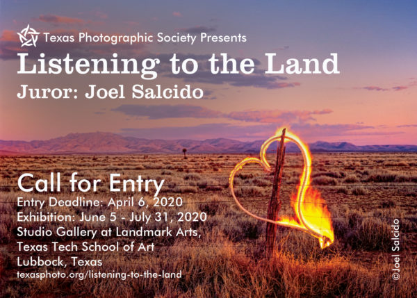Texas Photographic Society: Listening to the Land - logo