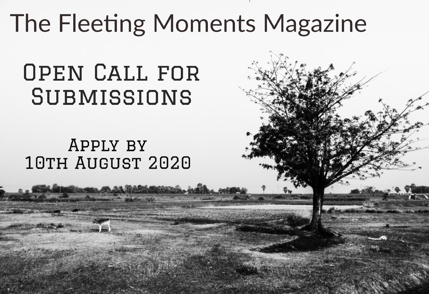 The Fleeting Moments Magazine Open Call 2020 - logo