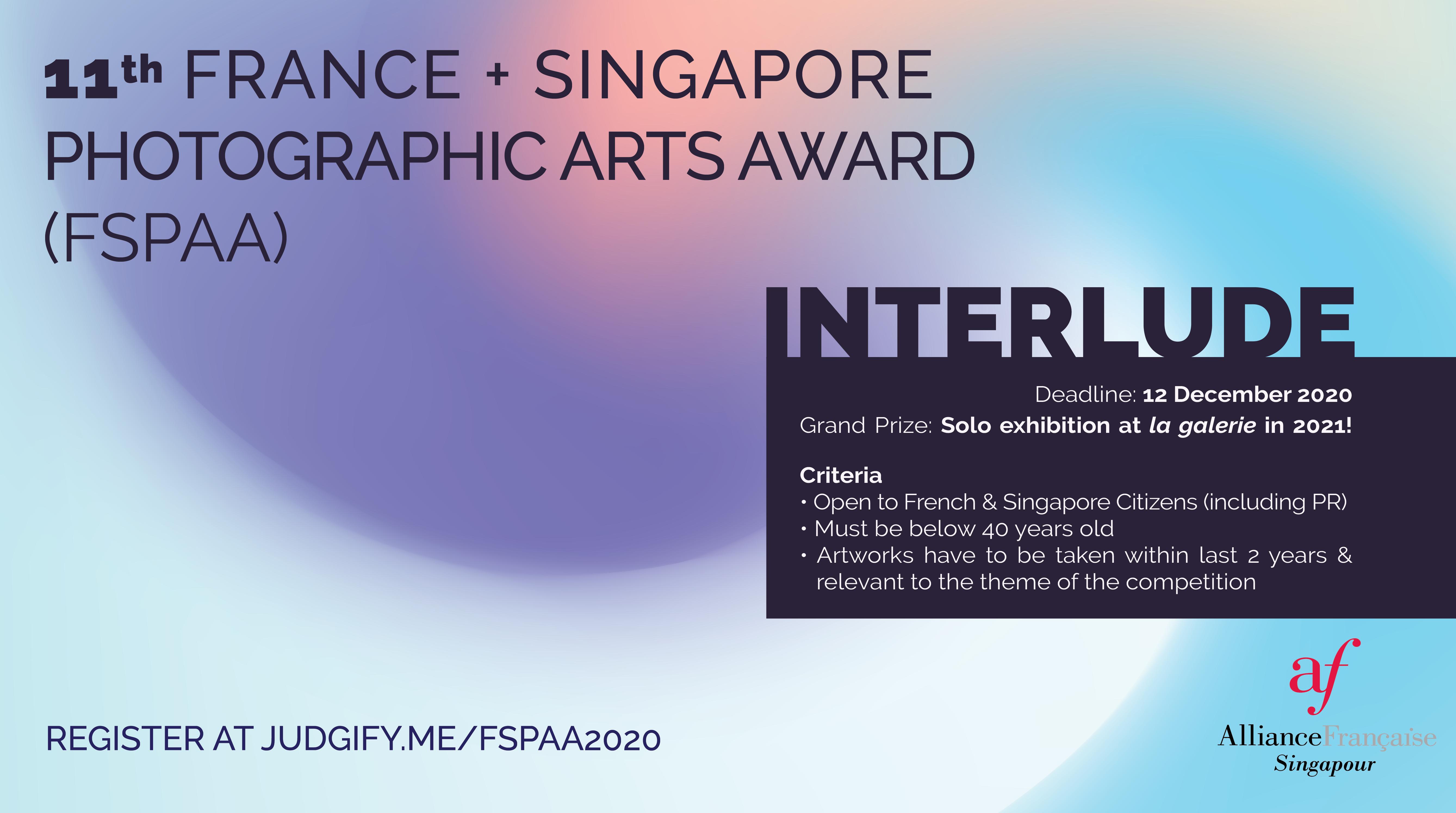 11th France + Singapore Photographic Arts Award - logo