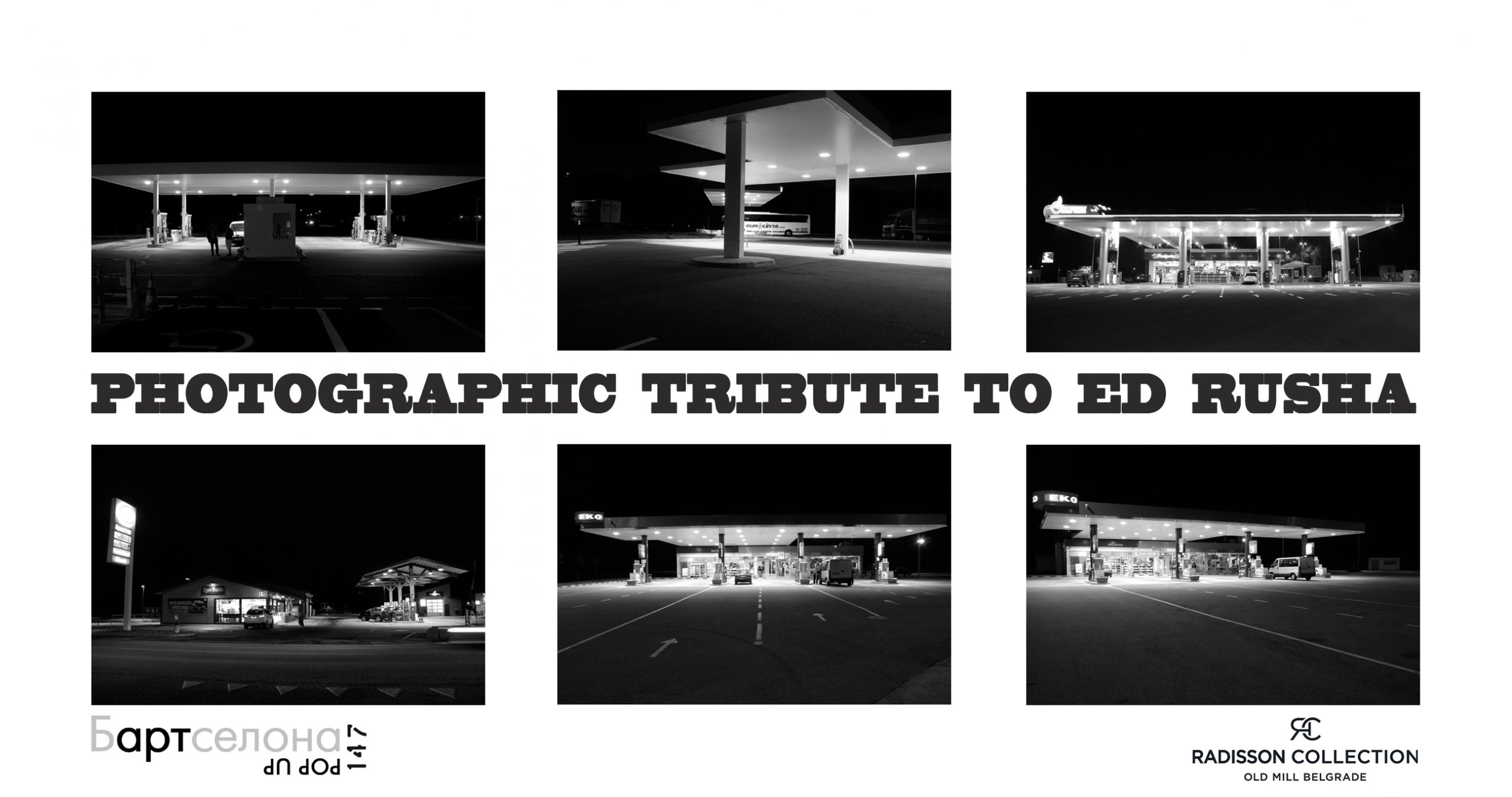 "Open Call for Group Exhibition ""Photographic tribute to Ed Rusha"" - logo"