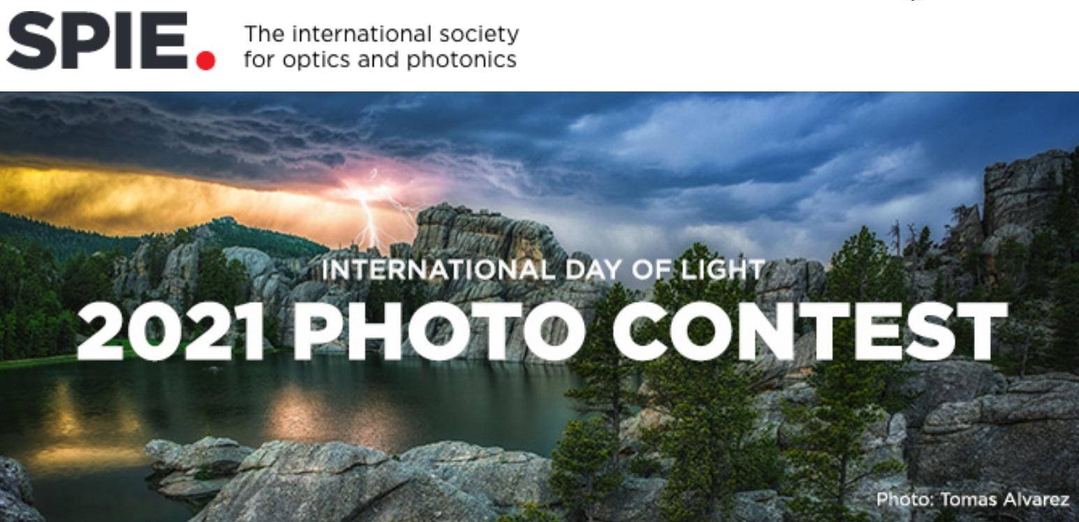 SPIE International Day of Light Photo Contest 2021 - logo