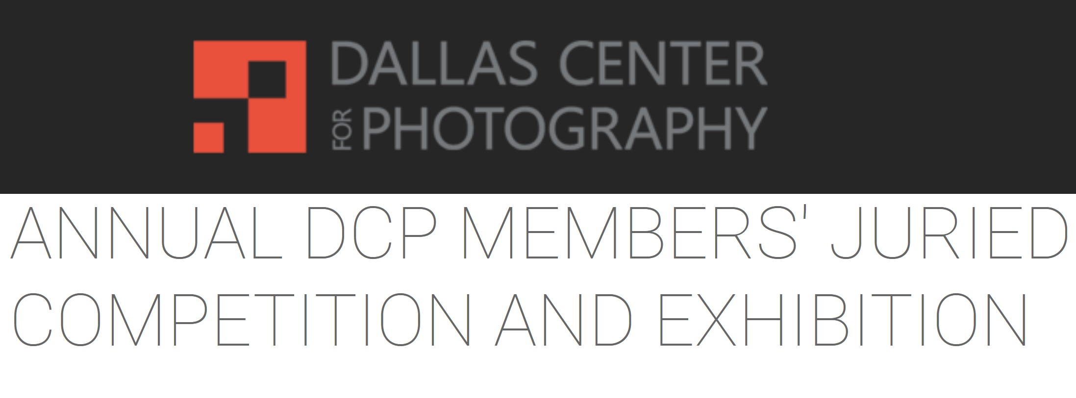 Annual DCP Members' Juried Competition and Exhibition - logo