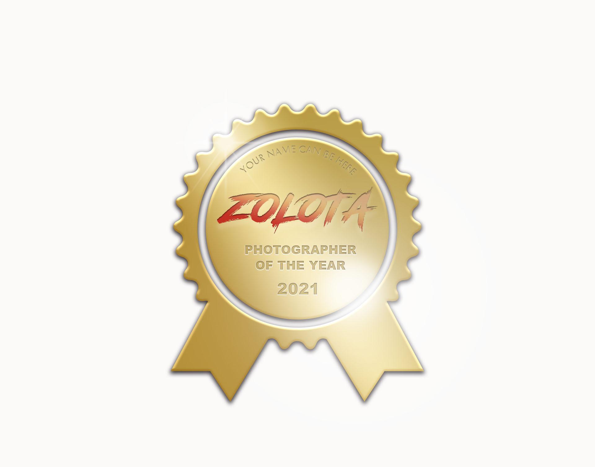 ZOLOTA PHOTOGRAPHER OF THE YEAR 2021 - logo