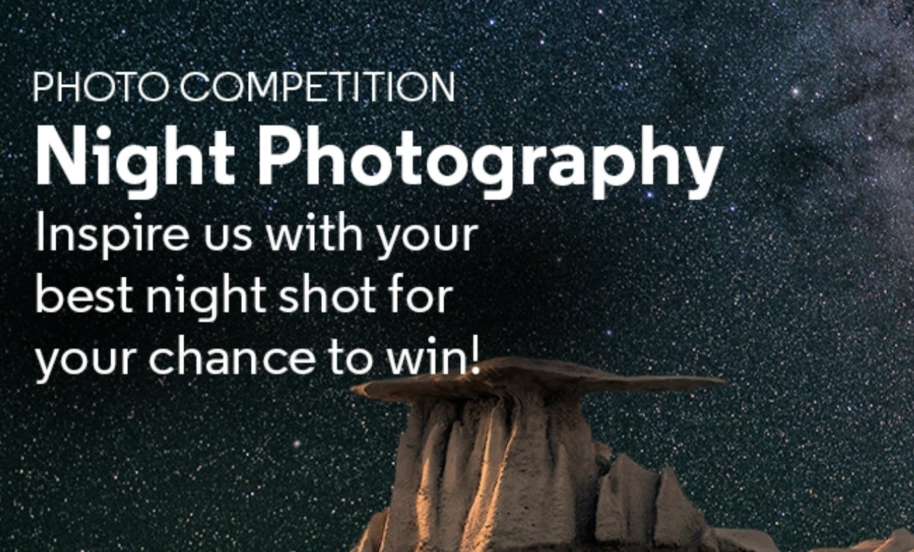 CameraPro Monthly Photo Competition – Night Photography - logo