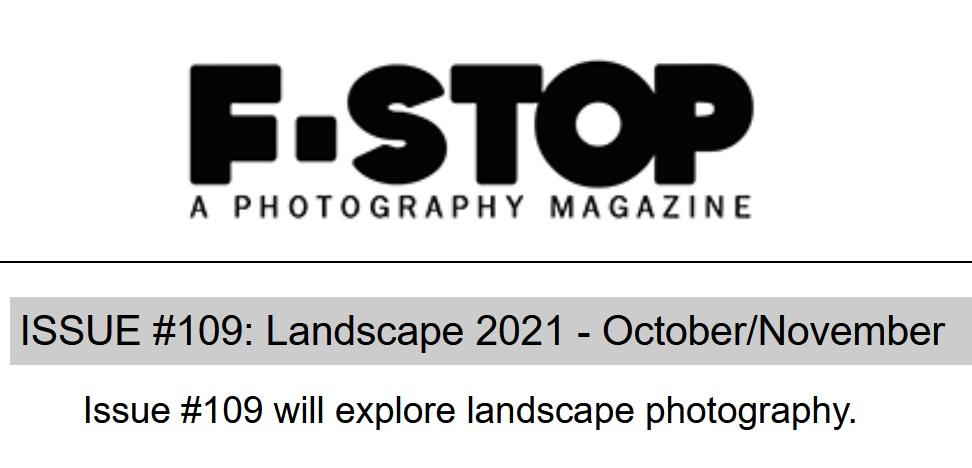 F-Stop Magazine – The Landscape 2021 - logo