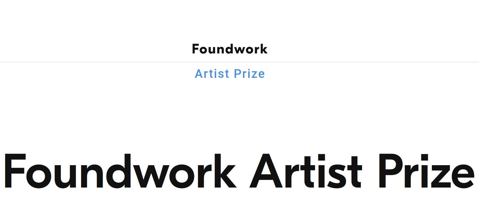 Foundwork Artist Prize 2021 - logo
